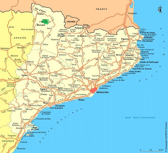 Carte de l espagne barcelone   Photo du monde