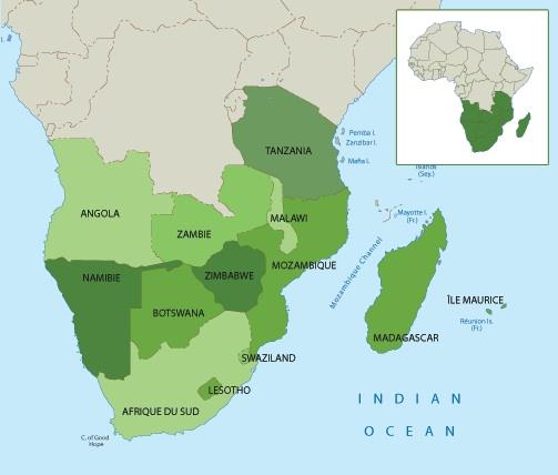 Carte De Lafrique Du Sud Avec Les Capitales.Les Capitales Des Pays De L Afrique Australe Abcvoyage