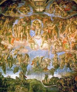 fresque du jugement dernier_leonard de Vinci