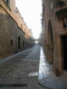 rue de chevaliers rhodes