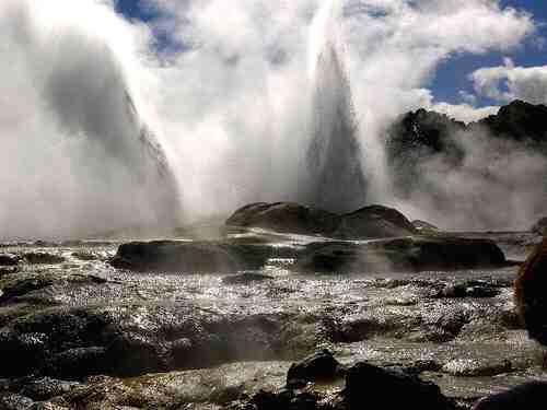 Vos voeux des volcans jusqu'aux collines dans etat d'ame Nouvelle-zelande