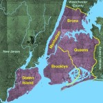 "Les 5 ""boroughs"" de New York City ?"