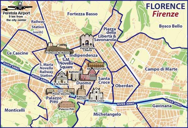 Les Quartiers De Florence