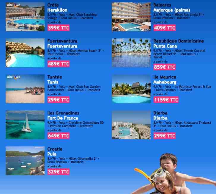 Promotions et bons plans voyage juin 2012 abcvoyage for Bon plan hotel pas cher
