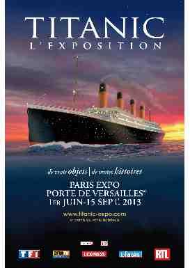 L 39 exposition titanic paris abcvoyage avion h tel - Restaurant porte de versailles pas cher ...